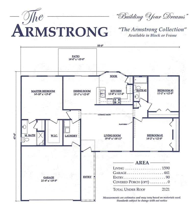 Armstrong a 3 bedroom 2 bath home in silver springs shores for Armstrong homes price per square foot