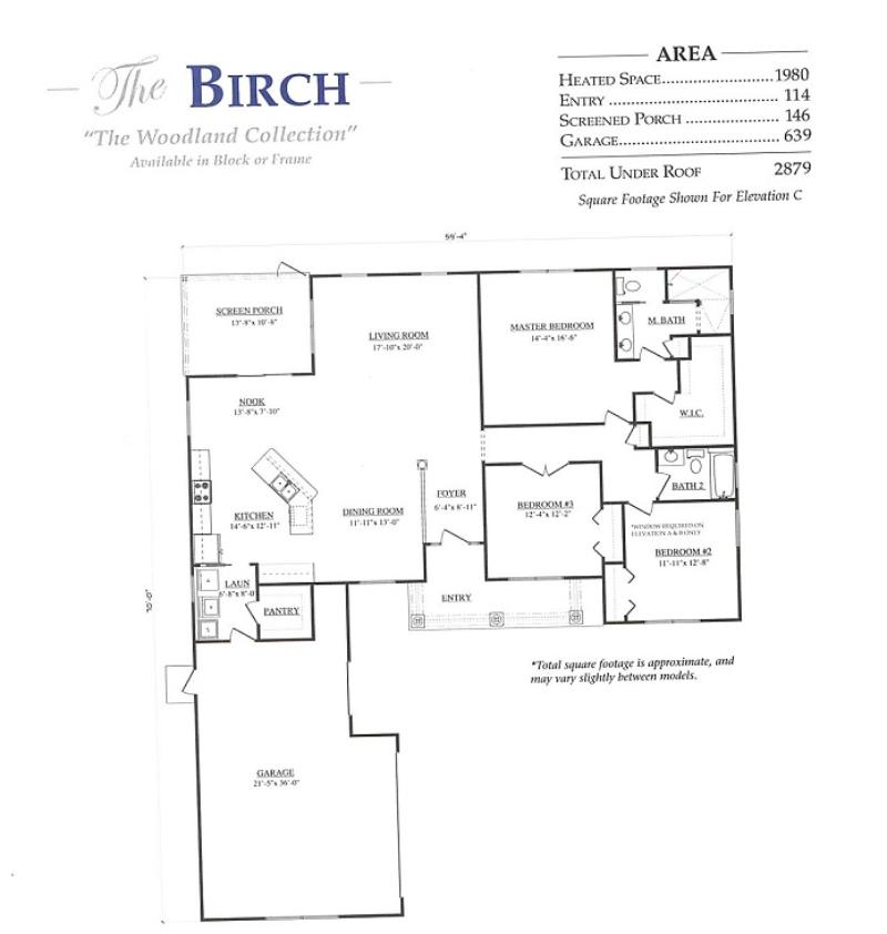 Birch a 3 bedroom 2 bath home in stonecrest a new home for Armstrong homes floor plans