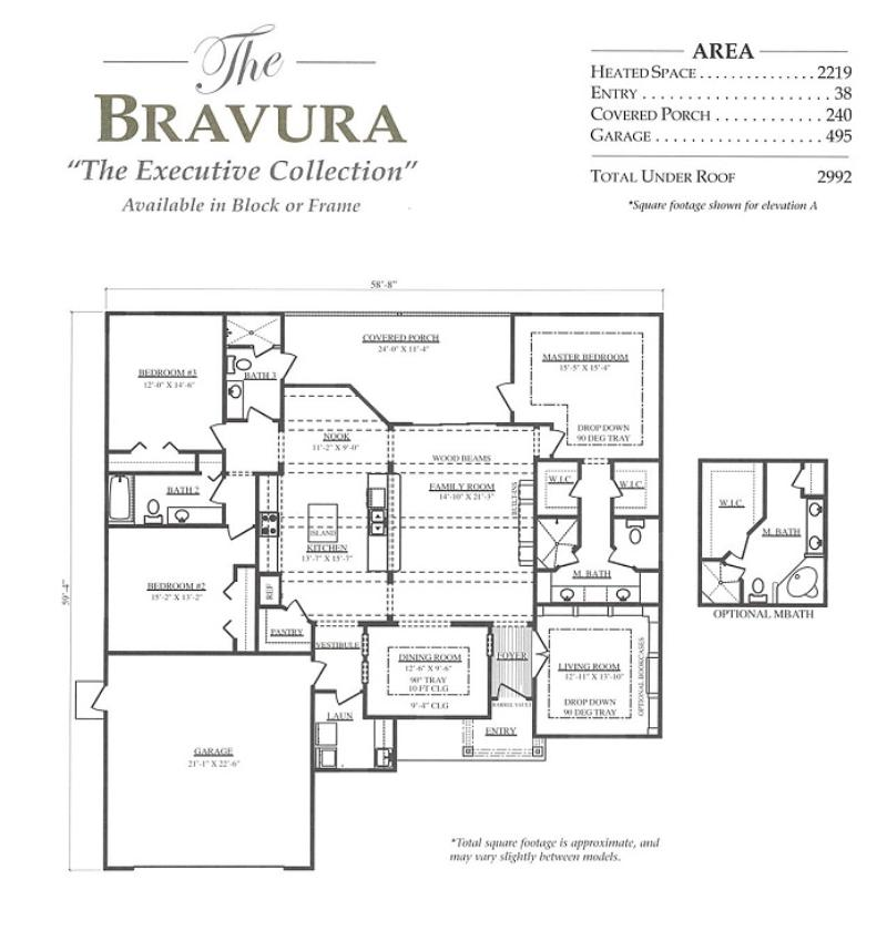 Bravura a 3 bedroom 3 bath home in build on your lot a for Armstrong homes floor plans