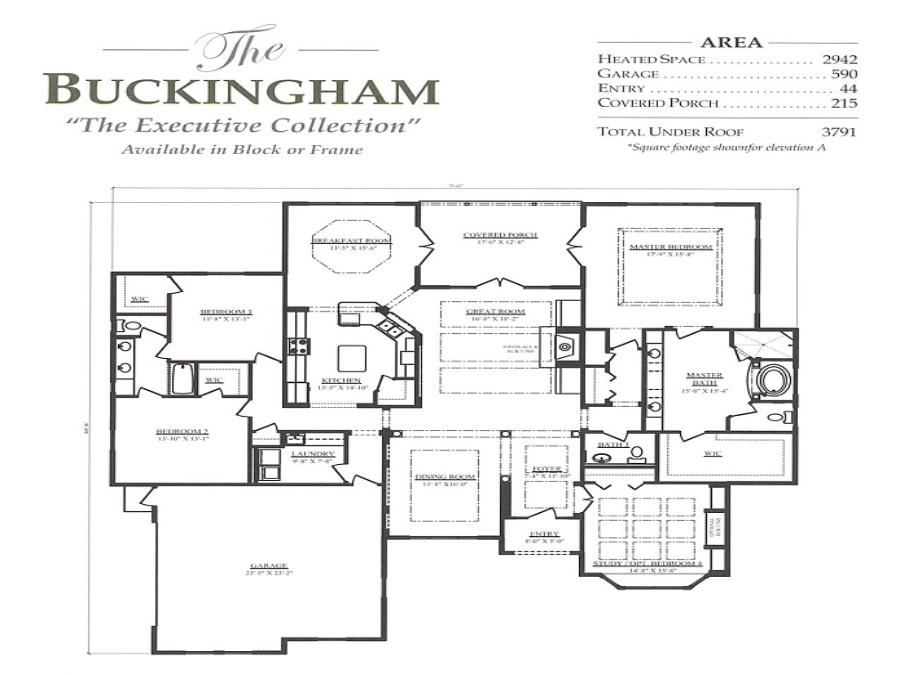 Buckingham - Elevation 1