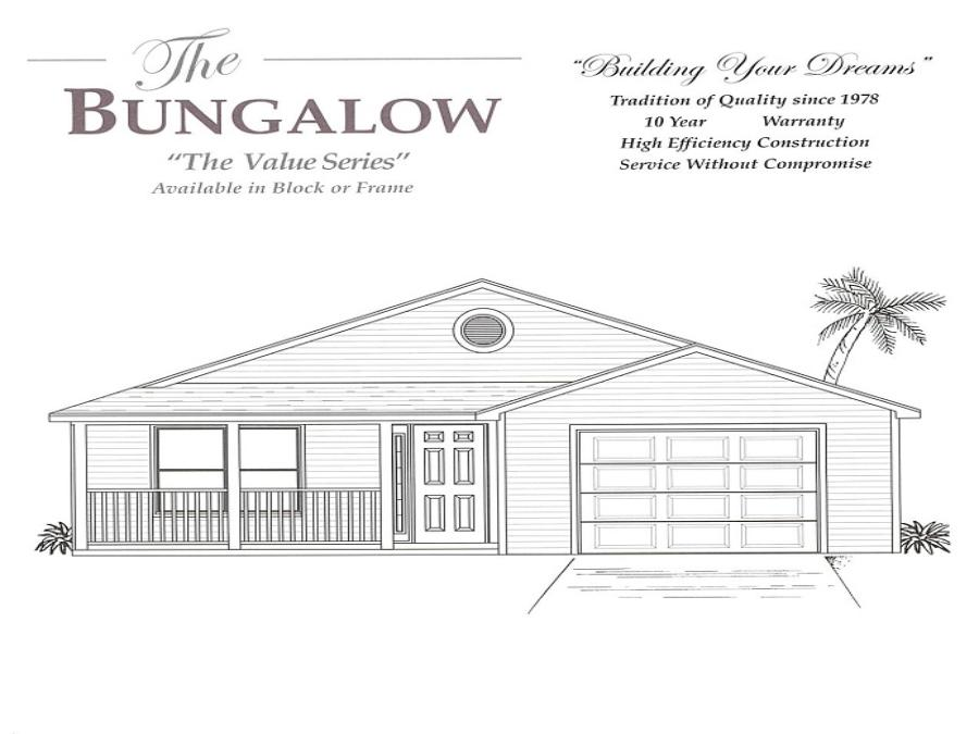 Bungalow - Elevation 1