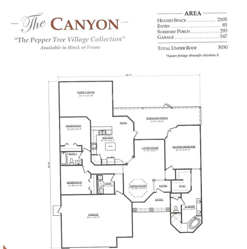 Canyon a 3 bedroom 2 bath home in pepper tree village a for Armstrong homes floor plans