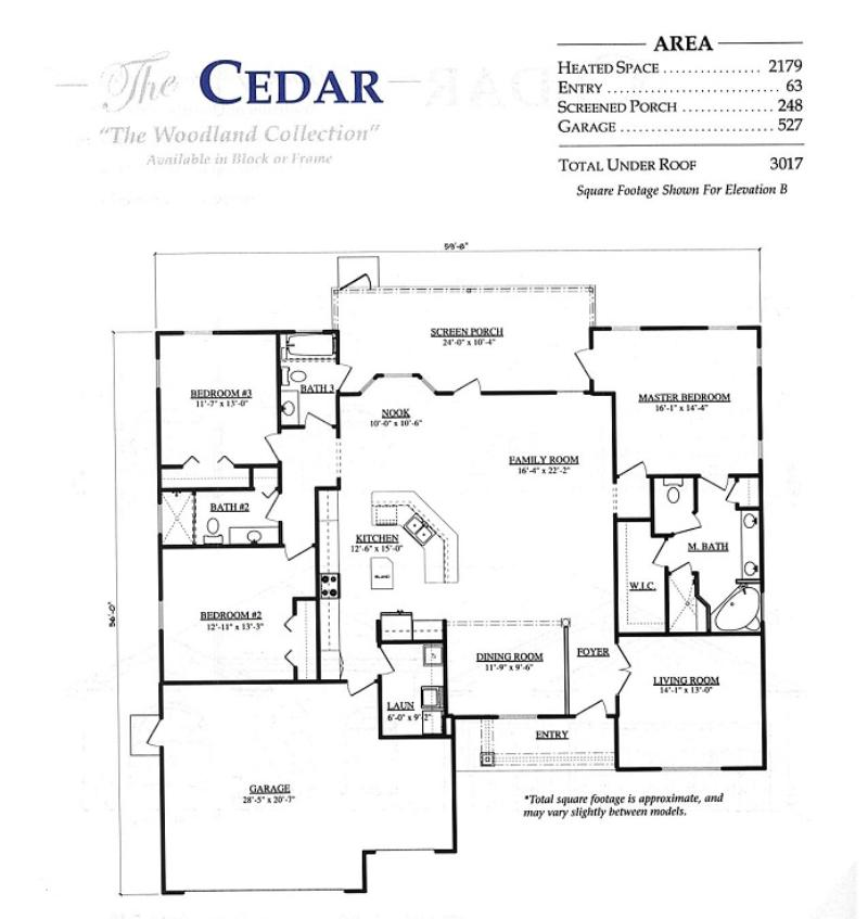 Cedar a 3 bedroom 3 bath home in stonecrest a new home Cedar homes floor plans