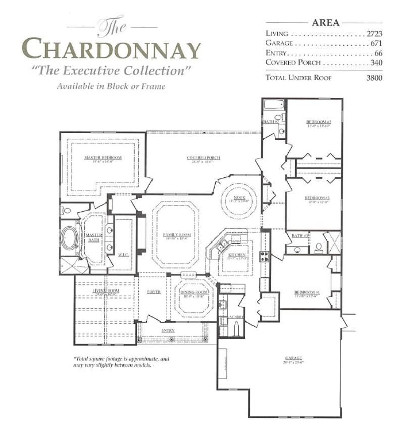 Chardonnay a 4 bedroom 3 bath home in marion oaks a new for Armstrong homes floor plans