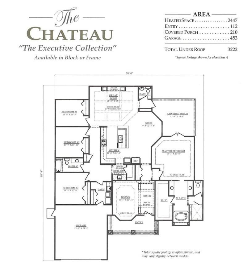 Chateau a 4 bedroom 2 bath home in bellechase the for Armstrong homes floor plans