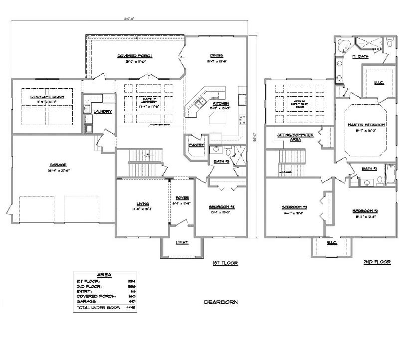 Dearborn a 4 bedroom 3 bath home in bellechase the for Armstrong homes floor plans