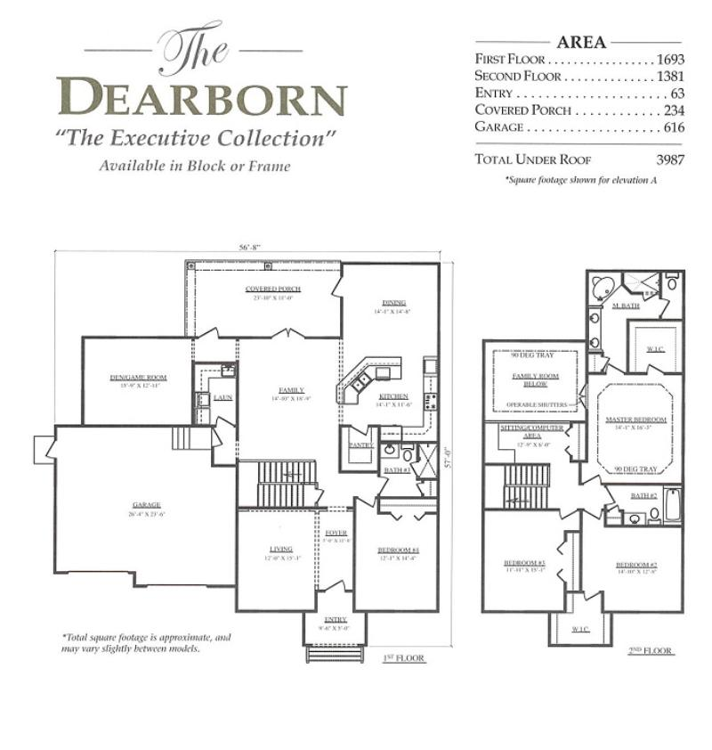 Dearborn A 4 Bedroom 3 Bath Home In Bellechase The