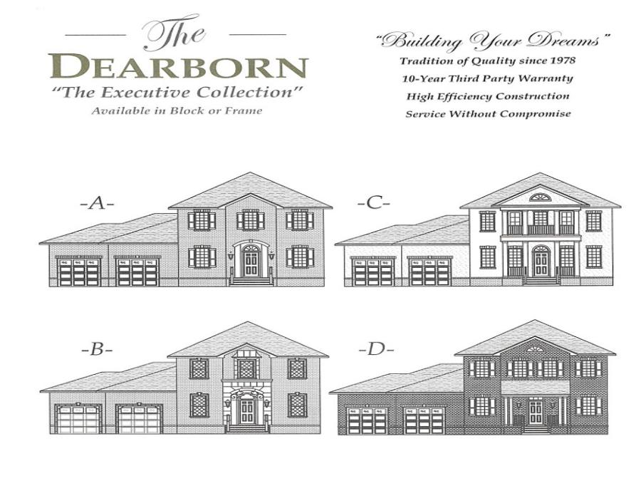 Dearborn - Elevation 1