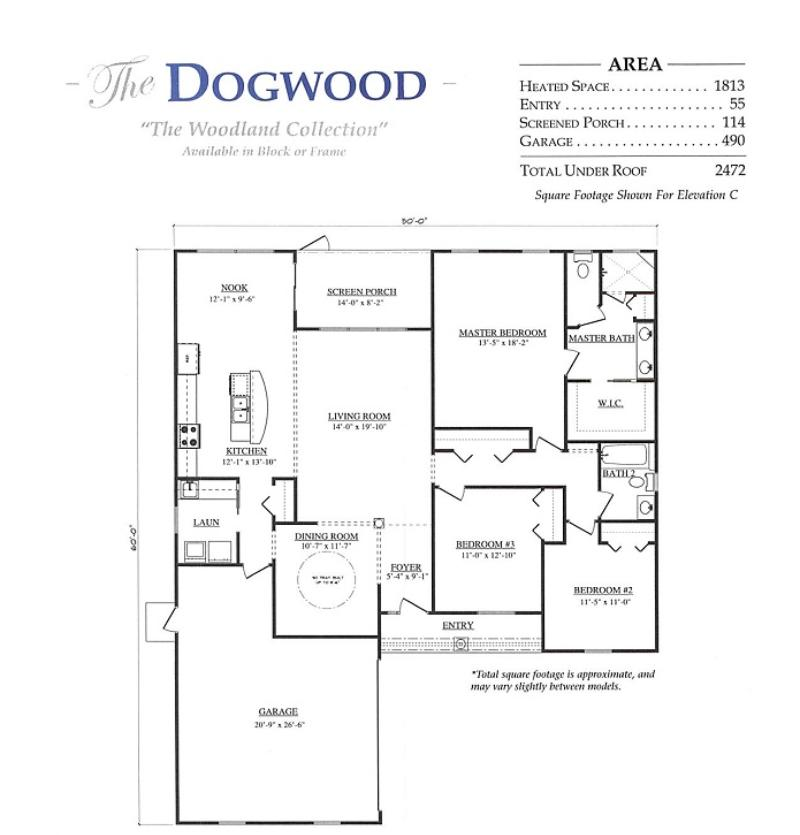 Dogwood a 3 bedroom 2 bath home in stonecrest a new home for Armstrong homes floor plans