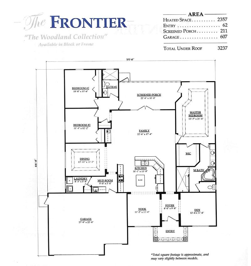 Frontier a 3 bedroom 2 bath home in stonecrest a new home for Armstrong homes floor plans