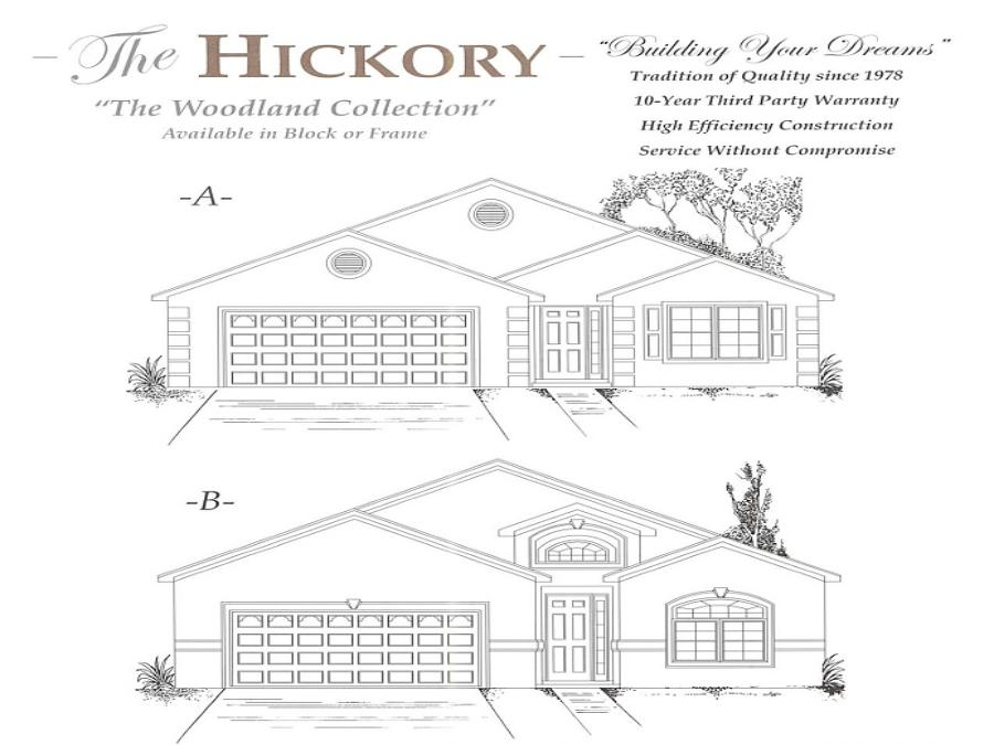 Hickory - Elevation 1