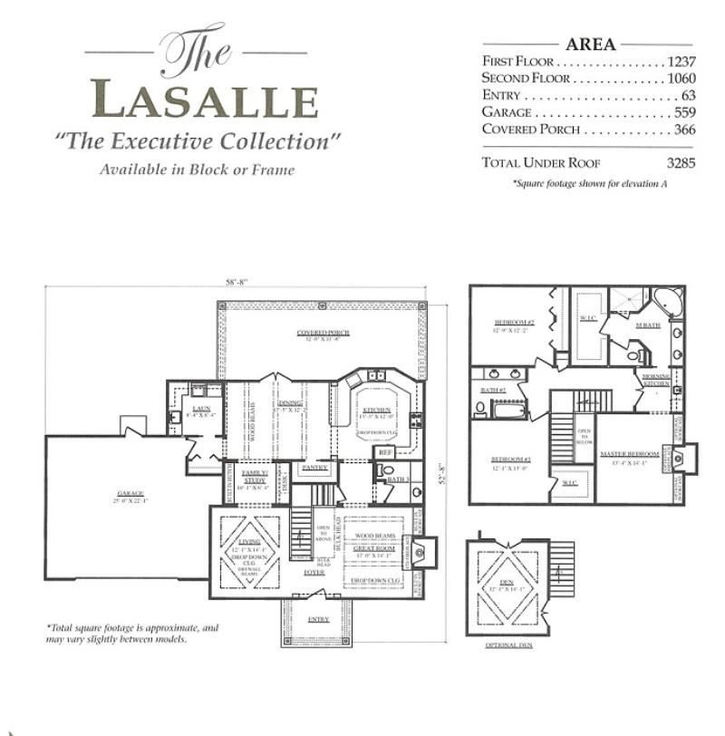 Lasalle a 3 bedroom 2 bath home in bellechase the for Armstrong homes floor plans