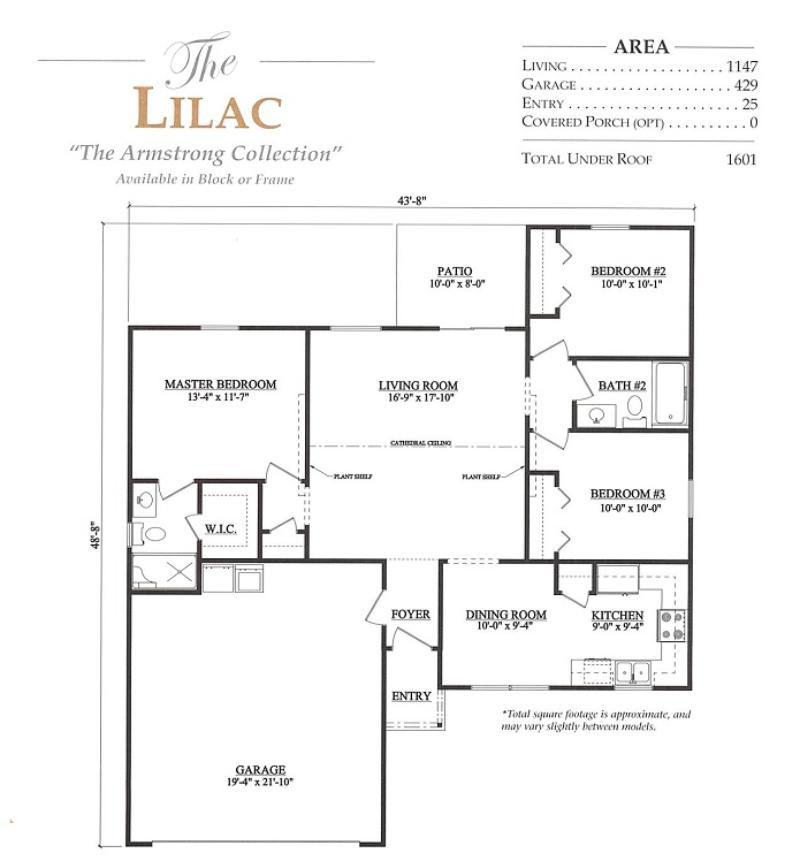 Lilac a 3 bedroom 2 bath home in marion oaks a new home for Armstrong homes floor plans