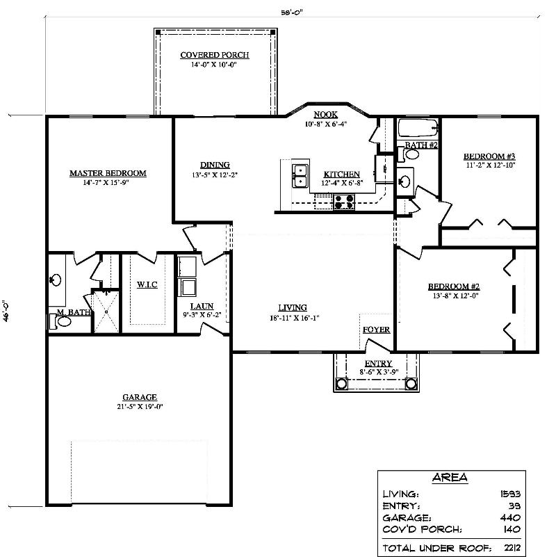 Montego a 3 bedroom 2 bath home in citrus springs a new for Armstrong homes price per square foot