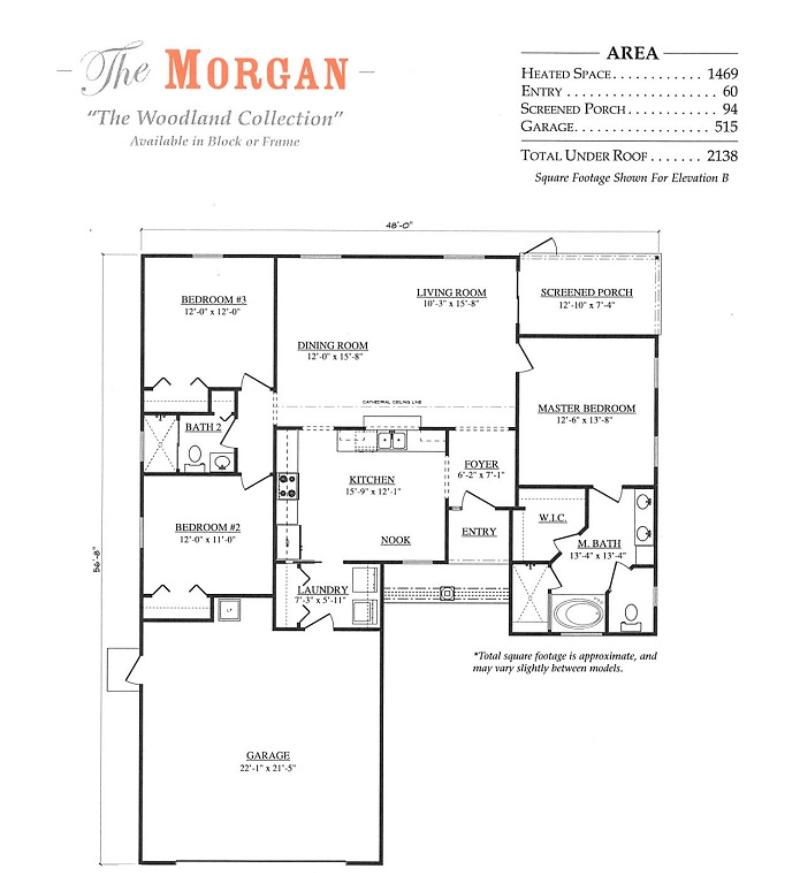 Morgan a 3 bedroom 2 bath home in jb ranch a new home for Armstrong homes floor plans