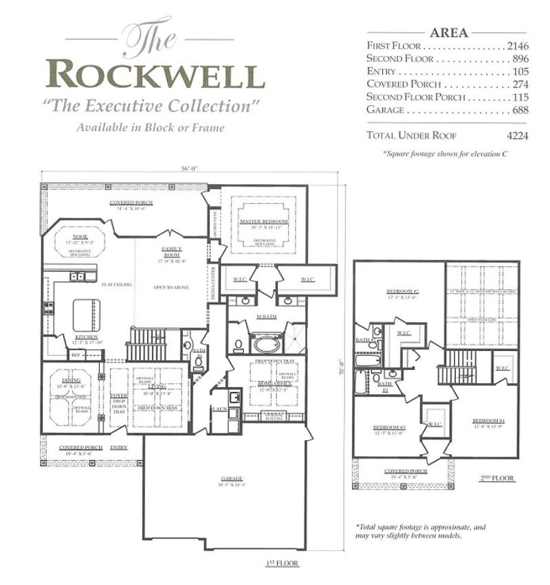 Rockwell a 4 bedroom 3 bath home in bellechase the for Armstrong homes floor plans