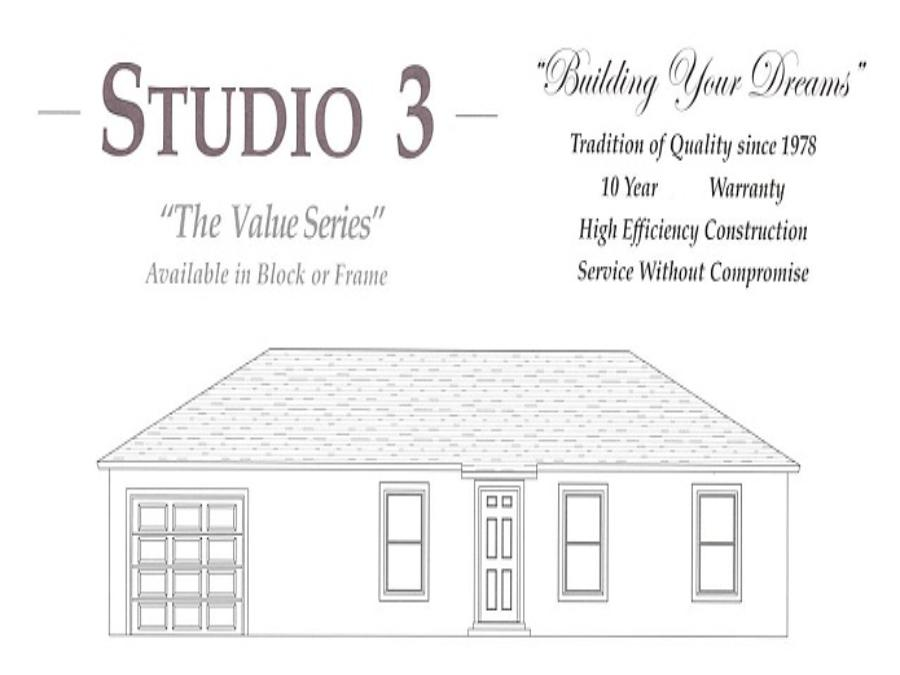 Studio 3 - Elevation 1