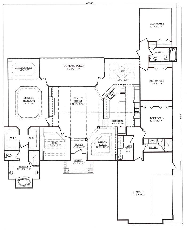 Canterbury v a 4 bedroom 3 bath home in build on your lot for Canterbury floor plan