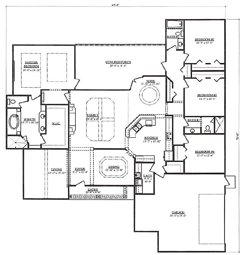 St andrews ii a 4 bedroom 3 bath home in build on your for Armstrong homes floor plans