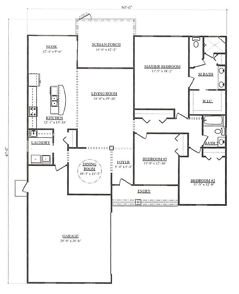 Sundance a 3 bedroom 2 bath home in pepper tree village a for Armstrong homes floor plans