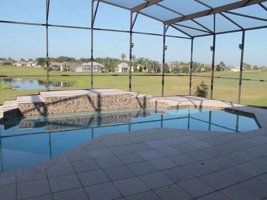 Grand Pool and Deck with Pavers